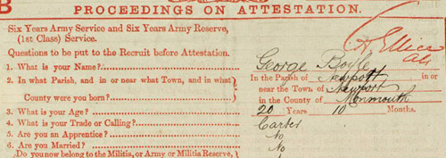 George Boyle army papers